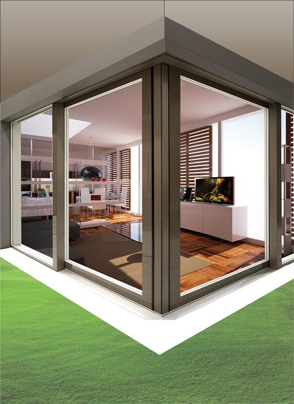 Produzione porte finestre tutto vetro italserramenti - Showroom porte e finestre ...