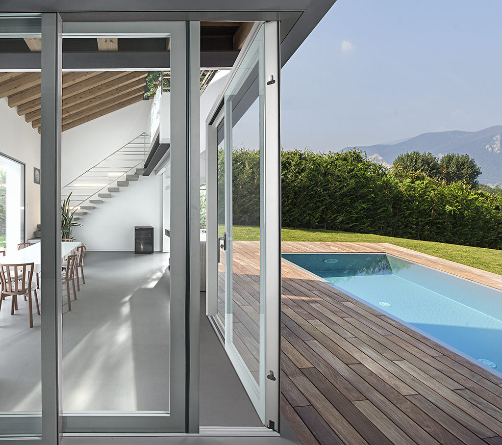 Produzione porte finestre tutto vetro italserramenti - Porta finestra doppio vetro ...